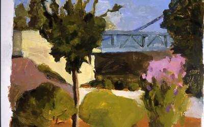 Bridge at Le Port with Crape Myrtle